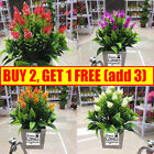 Realistic Artificial Flowers Plant In Pot Outdoor Home Garden Office Decor Uk Th