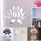 Decoration Wall Sticker Decals Acrylic Removable Mirror Flower Home Room