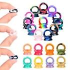 10-40pcs Colorful Ultra Thin Silicone Ear Gauges Kit Double Flared Plug Piercing