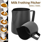 600ml stainless steel milk jug frothing frother coffee latte pitcher thermometer