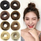 Natural Donut Bun Hair Piece Scrunchie Real Human Look Hair Extensions Ring US