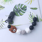 Handmade Silicone Cute Bear Pacifier Chain Clip Dummy Holder for Baby Shower