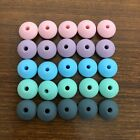 Kyпить 50Pcs 12MM Lentil Silicone Beads Baby Teether BPA free Silicone Teething Beads  на еВаy.соm