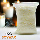 100G- 50KG 100% Pure Soy Wax/Soya Candle Making Wax Natural Flakes Clean Burning