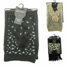 Ellen Tracy Womens Rectangle Scarf and Hat Set Winter Casual One Size
