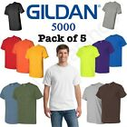 Kyпить Bulk Lot Gildan Men Heavy Cotton Plain Short Sleeves T-Shirt 5000 (Pack Of 5) на еВаy.соm