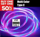 LED Light Up FAST Charger Charging Cable USB Cord for iPhone Samsung PS4 Android