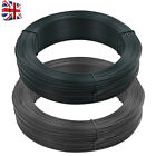 250 m Fence Binding Wire Blackish Chain Line Fencing Roll Steel PVC Coating