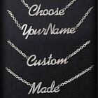Personalised Name Necklace Custom Nameplate Chain Stainless Steel Jewellery Gift
