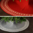 48inch Living Room Home Decor Vintage Christmas Tree Skirt Party Supplies Soft