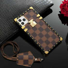 Luxury Square Plaid PU Leather Case Cover Strap For iPhone 11 Pro Max XS XR 7/8