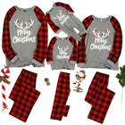 Family Matching Adult Kids Christmas Pajamas Xmas Nightwear Pajamas PJs Sets Hot