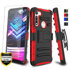 For Motorola Moto G Fast Case Kickstand Belt Clip Cover,Tempered Glass Protector