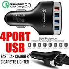 (New) 4 USB Ports 3.1A Fast Car Charger Qualcomm QC3.0 Certified Quick Charger