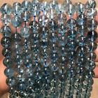 Natural Himalayan Blue Quartz Crystal Spiritual Round Beads 15.5