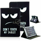 Universal Pattern Leather Flip Tablet Stand Case Cover for Amazon Lenovo Samsung