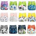 2 Pack Reusable Waterproof One Size Pocket Cloth Diaper Set