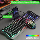 Tastiera e mouse da gioco Set Rainbow LED USB illuminato per PC Laptop PS4 Xbox