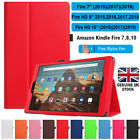 'For Amazon Kindle Fire Hd 7 8 10 All 2017~20 Pu Leather Flip Case/cover Stand