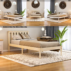 Wood Bed Milan Single Double King Size Frame 3ft 4ft6 5ft Mattress Pine White