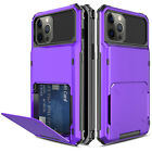 For iPhone 12 Pro Max,Mini Case Wallet Shockproof Hybrid Card Holder Armor Cover