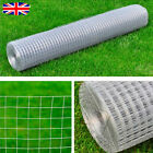 Galvanised Chicken Wire Fence Rabbit Aviary Pet Net Fencing Garden Multiple size