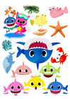 Baby Shark set of decorations ICING WAFER edible cake topper