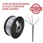 Cat6 UTP CM 28AWG 4 Pair Stranded ETL Certified, UL Listed, Solid Pure Copper