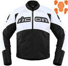 ICON Contra 2 Leather Perforated Motorcycle Jacket WHITE