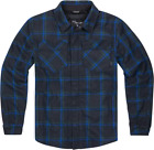ICON Upstate Riding Flannel Shirt BLUE GREY
