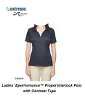 Extreme Ash City Womens Ladies Eperformance Propel Interlock Polo Contrast Tape