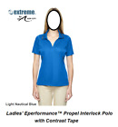 Extreme Ash City Ladies Womens Eperformance Propel Interlock Polo Contrast Tape