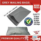 Grey Mailing Bags Strong Poly Postal Postage Post Mail Self-Seal Size 15