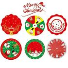 84cm Round Christmas Tree Skirt Base Floor Mat Cover Xmas Party Gift Decor A2s6