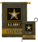 US Army Veteran Burlap Garden Flag Armed Forces Small Gift Yard House Banner