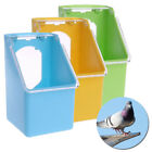 1* Plastic Food Water Bowl Cups Parrot Bird Pigeons Cage Cup Feeder Feeding Tool
