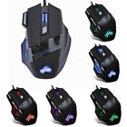 5500DPI LED Optical USB Wired Gaming Mouse 7 Buttons Gamer Computer Mice USA