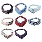 Women Yoga Button Headband Protect Ears Mask Holder Ethnic Floral Cross Headwrap