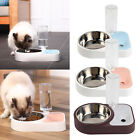 Pets Water and Food Bowl Set Auto Waterer Dispenser Bottle Drinking Food Feeder