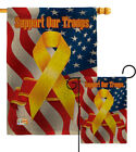 Support Our Troops Burlap Garden Flag Service Armed Forces Yard House Banner