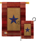 One Star Service Burlap Garden Flag Armed Forces Gift Yard House Banner