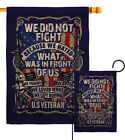 We Did Not Fight Burlap Garden Flag Service Armed Forces Gift Yard House Banner