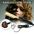 Home 80W Electric Curling Iron Wet  Dry Hair Brush Curler Straightener Comb