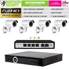 4x 1080P 2MP POE 2.8-12MM 30M IR 4 CHANNEL NVR IP CAMERA CCTV KIT BUNDLE SYSTEM