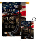 Stand For The Flag Burlap Garden Service Armed Forces Gift Yard House Banner