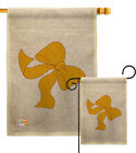 Yellow Ribbon Burlap Garden Flag Service Armed Forces Gift Yard House Banner