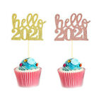 Happy New Year 2021 Cake Topper Christmas Party Wedding Home Decoration Supplies