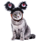 Pet Cat Headgear Halloween Glowing Eyes Headband For Halloween Party Outfit New