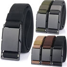 1.34inch Quick Release Stretch Belt with Magnetic Buckle Webbing Belt for Men