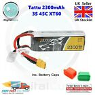 Tattu 2300mAh 45C 3S 11.1V XT60 Lipo Battery - 1500 1800 2200 RC Racing